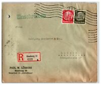 Germany 1933 Registered Cover to Lubeck / Bottom Tears - Z13973