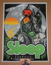 Sleep David D'Andrea April 2018 Tour Band Poster Print Art Band