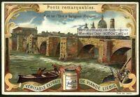 Ebre Bridge Saragosse Spain c1900 Trade Ad Card