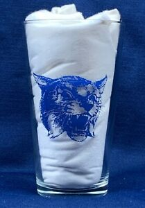 Vintage Kentucky Wildcats Glass Fight Song On, On, U of K Big Blue