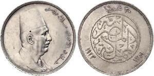 EGYPT , 20 PIASTRES KING FUAD FOUAD 1923 WITHOUT H -  TOP ( EG.10 )  ,  RARE