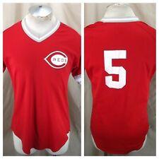 Vintage 80's Wilson Cincinnati Reds #5 (Med/Large) Retro MLB Baseball Jersey Red