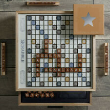 Scrabble Luxe Maple Edition Rotating Luxury Wooden Game Board WS Game Company