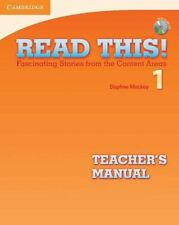 Read This! Level 1 Teacher's Manual With Audio Cd: Fascinating Stories From T...