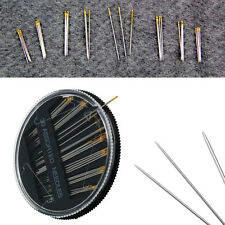 30 Assorted Hand Sewing Needles Embroidery Darning Mending Quilting Repair Case