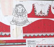 "Vtg 90s Christmas Bunny Veronica Louise Daisy Kingdom NOEL 15"" doll fabric panel"