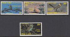 BIRDS :  DJIBOUTI 1985  Audubon set SG 941-4 never-hinged mint