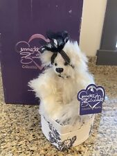 Annette Funicello Bear Vintage-Ltd Edition-Ivory Mohair-Cameo On Toile Heart Box