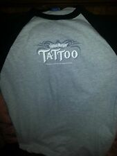 Captian Morgan Tattoo mens T-shirt with 3/4 sleeve size M