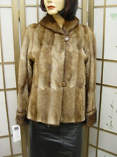 Mint Natural Canadian Muskrat Fur Jacket Coat Women Woman Sz 6 Small