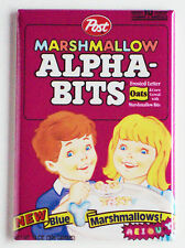 Marshmallow Alpha Bits FRIDGE MAGNET cereal box