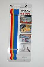 "Velcro One Wrap 1/2"" x 8"" 5 Piece Rainbow Red Orange Yellow Green Blue Straps"