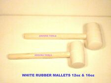 HAMMERS 12 & 16 oz SOFT FACE DOUBLE END WHITE RUBBER BRAND NEW.