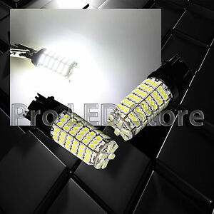 2X 3157 3156 6000K Xenon White SMD Chip 120-LED Brake Tail Stop Lights Bulbs