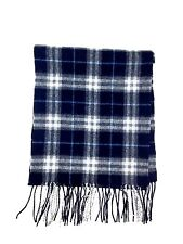 $280 CLUB ROOM Men UNISEX BLACK PLAID DRESS WINTER CASHMERE SHAWL MUFFLER SCARF