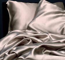 GOOD DEAL ! TWIN GRAY SOFT SILK FEEL SATIN BED SHEETS & PILLOWCASE SET