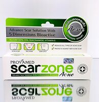 Provamed Scar Zone Acne Cream Advance Smooth Soften Reduce Protect Treatment 10g