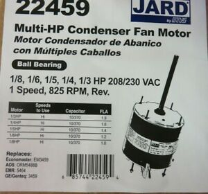 Condenser Fan Motor For Central A/C Multi-HP 825 rpm Universal Replacement