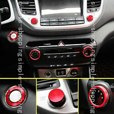 5pcs Alloy Inner air-condition Voice Ring Cover Trim For Hyundai Tucson 16-2017