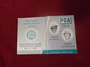 1962 PGA National Golf Day Ball Marker Jerry Barber Gene Littler Foldout, commem