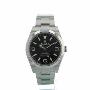 Rolex Explorer 39mm Model 214270 Black Dial Stainless Steel Box and Papers 2016