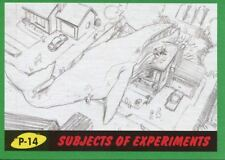 Mars Attacks The Revenge Green Pencil Art Base Card P-14 Subjects of Experiments