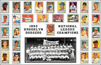 1952 Brooklyn Dodgers Poster 11X17 - Robinson Snider Hodges Buy Any 2 Get 1 FREE