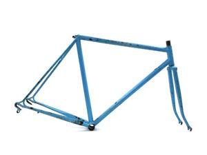 Unbranded 54 cm 28/700C Road Racing Touring Vintage Bicycle Steel Blue Frame