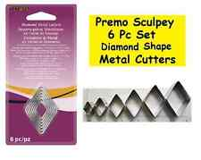6 pc Polymer Clay Metal Cutters DIAMOND Shape Sculpey Cookie Fondent