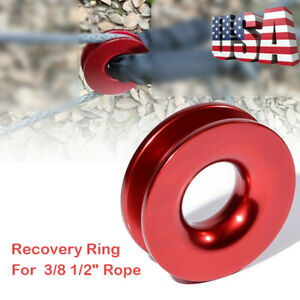 """Aluminum RECOVERY RING SNATCH-RING Block-Snatch 41000lb For 3/8"""" 1/2"""" Rope US"""