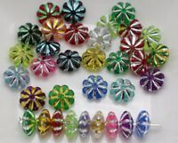 "1000 Colourful Sparkling Silver Acrylic Fluted Saucer Spacer Beads 6X3mm(0.24"")"