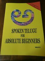 Spoken Telugu for Absolute Beginners by Sanjay D. (English) Paperback Book Free