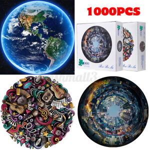 1000 Pieces Jigsaw Puzzles Set Adult Kids Toys Activity Games Home Decor 27in ❤