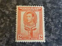 SOMALILAND PROTECTORATE POSTAGE STAMP SG100 12A RED ORANGE LIGHTLY-MOUNTED MINT
