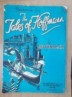 VINTAGE SHEET MUSIC - SELECTION FROM THE TALES OF HOFFMAN - OFFENBACH