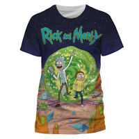 Official RICK AND MORTY T Shirt Jumbo Portal Sublimation White Mens NEW S XL