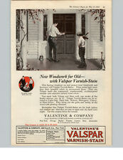 1922 Paper Ad COLOR Valspar Varnish-Stain Father & Son Valentine & Company