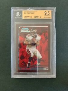 CHRIS SIMMS BGS 9.5 2003 BOWMAN CHROME RED REFRACTOR RC #/235 ROOKIE CARD REF