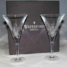 "Waterford Crystal Champagne Wine Toasting Flutes Signed 7 3/4"" New NIB"