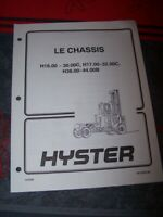 DH Manuel Hyster Le chassis H16.00-30.00C H17.00-32.00C H36.00-44.00B