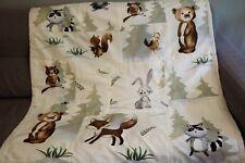 Todler blanket handmade 42''x46'' lovely animals print