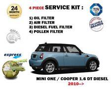 PER BMW MINI ONE COOPER 1.6 TD 2010->FILTRO OLIO ARIA CARBURANTE POLLINE (4)