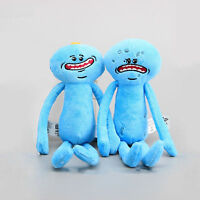 NEW Rick And Morty Mr Meeseeks Happy & Sad Face Stuffed Plush Doll Soft Toy 10''