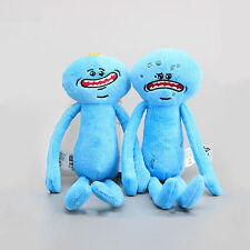 NEW Rick And Morty Mr Meeseeks Happy & Sad Face Stuffed Plush Doll Soft Toy 25cm