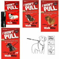 Mikki Walkrite Anti-Pull Dog Walking Harness 4 Sizes with Reflective Dog Collar