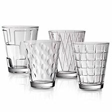 VILLEROY & BOCH - DRESSED UP - 4 PIECE CRYSAL WATER GLASS SET - 11 OZ.