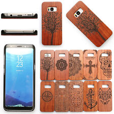 For Samsung Galaxy S8 / S8 Plus Luxury Wood Bamboo PC Hard Shell Back Cover Case