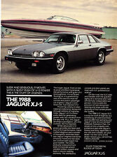 "1988 Jaguar XJ-S XJS Coupe & Speedboat photo ""Sleek & Sensuous"" promo print ad"