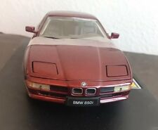 1990 Bmw 850i V12 Coup 1/18 Scale By Revell Die Cast Car Burgundy Red New W/B