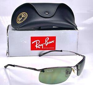 Authentic Ray Ban Polarised Top Bar Semi Rimless Predator RB3183 Wrap Sunglasses